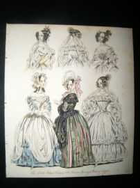 World of Fashion 1837 Hand Col Fashion Print 17